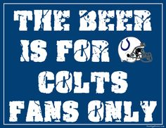 Indianapolis Colts Fan Sign - Man Cave Sign