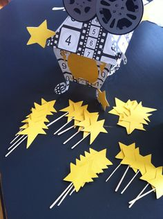 The Stars ~ cupcake toppers, Oscar party, Movie night on Etsy, $12.00 Academy Awards