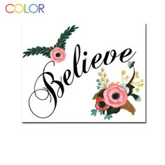 Printable Art PrintChildren's Believe with by ColorPrintables, $5.00