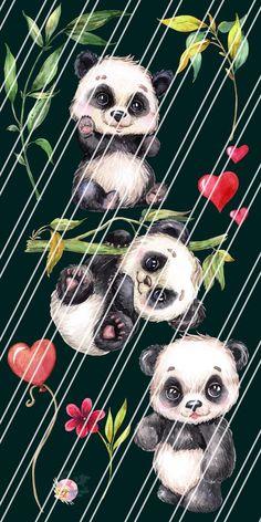 Watercolor little animal clipart birthday image 2 Panda Wallpaper Iphone, Cute Panda Wallpaper, Panda Wallpapers, Watercolor Images, Watercolor Animals, Baby Panda Bears, Baby Pandas, Panda Lindo, Panda Images