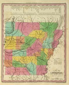 Vintage Arkansas Map
