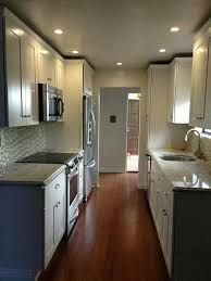 Image Result For Narrow Galley Kitchen With Stove And Fridge On The Same Wall Across Fr Small Galley Kitchen Designs Galley Kitchen Design Kitchen Design Small