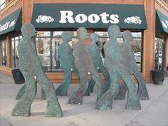 Starting Fourth - Calgary, Alberta - Silhouette Public Art Sculptures on Waymarking.com