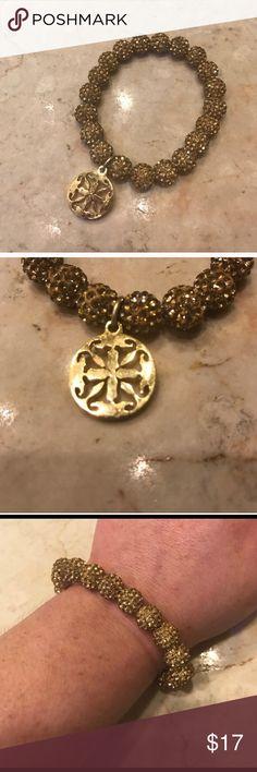 Gold Emerson Rustic Cuff Bracelet Gold Emerson Rustic Cuff Bracelet. Worn once. Rustic Cuff Jewelry Bracelets