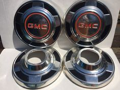 GMC Truck 4WD 4x4 Dog Dish Hubcaps Set Of 4 from 1987 Truck Pick-Up Wheel Covers #GMC