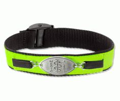 Lime Green Sports Band Medical Id Bracelet
