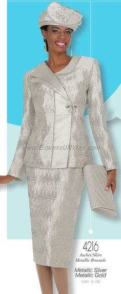Champagne 4216 Womens Church Suits
