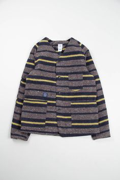 Post Overalls Grey/Yellow Trashed Wool 41DV Jacket