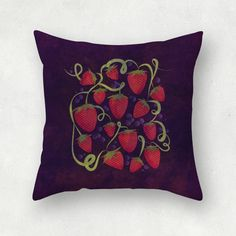 """Fresas & arandanos"" by Paperdose #fresas #arandanos #ilustración #illustration #strawberries #berries #frutillas"