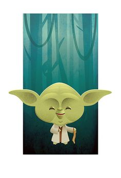 Kawaii Star Wars - Yoda by Jerrod Maruyama