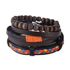 FREE SHIPPING Women's Leather Wrap Punk Bracelet 18 Styles Variants
