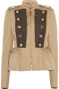 BURBERRY PRORSUM  Cotton-blend twill and tweed jacket