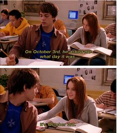 """on october 3rd he asked me what day it was.."""
