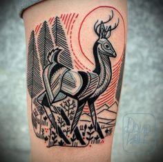 Deer tatoo