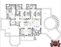 Luxury house plan Tanzania Home Design Floor Plans, Plan Design, Layout Design, House Layout Plans, House Layouts, Villa Design, House Design, Luxury House Plans, The Ranch