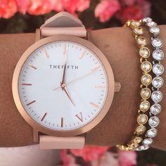 relógio ouro rosa.