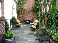 Cheap Patio Furniture Sets with Traditional Patio Potted Plants