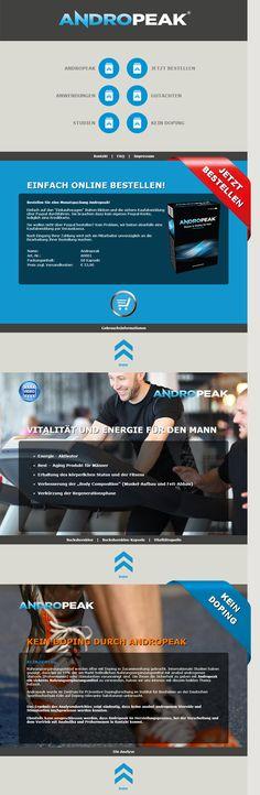 Die neue Andropeak Produktseite.