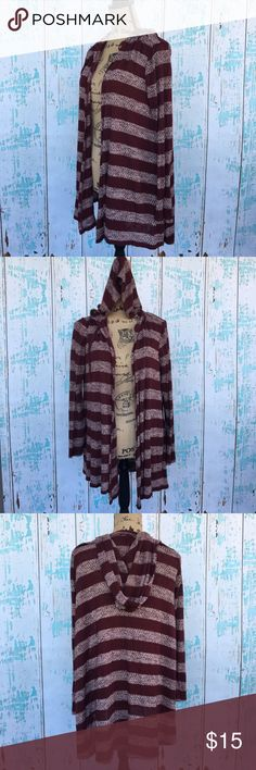 """T/O Sweaters hooded long striped cardigan T/O Sweaters hooded long striped cardigan size medium   🍥Bundle deals available (I carry various sizes and brands in my closet): 2 items 10% off, 3 items 15% off, 4 items or more 20% off.  🍥No trades, modeling, or lowball offers please. 🍥All reasonable offers accepted only through """"offer"""" button. Please submit offer willing to pay as I prefer to not counteroffer. 🍥I appreciate you all. Happy Poshing! t/o Sweaters Cardigans"""