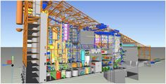 Tekla ( Bim ) Big Usine de traitement des déchets et de production d'énergie.