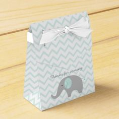 Cute Elephant Social gathering Favor Field Mint Inexperienced & Gray. ** Find out more at the image