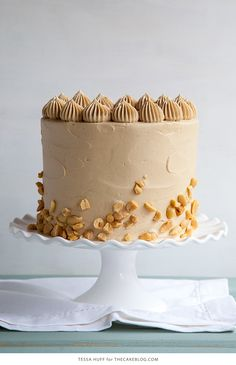 Cake | peanut butter cake with brown sugar peanut butter frosting ...