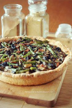 Moje Dietetyczne Fanaberie: Pełnoziarnista tarta z pieczarkami i zieloną fasolką Camembert Cheese, Recipies, Dairy, Cooking, Food, Pierogi, Pies, Recipes, Kitchen