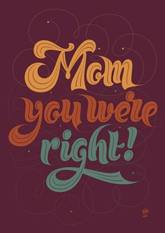 Mothers Day Lettering on Behance