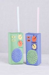 Fun police radios for kids made of recycled juice boxes! I don't know that we have enough time to suck down that much juice, but these are adorable!