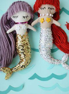 DIY Magical Mermaid Dolls (via A Beautiful Mess)