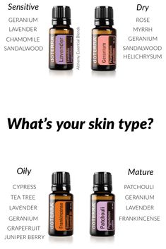 Make a custom-made face serum for your skin type by selecting from the essential oils listed. Aim for oils and blend with jojoba oil, which is suitable for all skin types, or apricot kernel oil, which is particularly suited to mature, sensitive a Essential Oils For Face, Essential Oils For Skin, Essential Oil Uses, Vitamine E Oil, Oil For Dry Skin, Jojoba Oil For Face, Aromatherapy Oils, Carrier Oils, Doterra Essential Oils