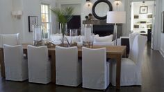 Verellen Slipcovered dining chairs
