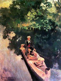 """""""In the Boat"""", Konstantin Korovin, 1915"""