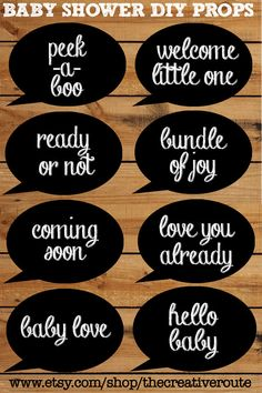 Simple Chalkboard Photo Booth Props for Baby Shower! This is a DIY printable kit for a boy or girl baby shower. Printable photo booth Props included in a 8 page PDF instant download. You can see other shower props in our store. https://www.etsy.com/shop/TheCreativeRouteTheCreativeRoute, $2.75