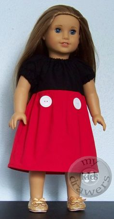 18 Doll MICKEY MOUSE Inspired Peasant Princess by #mykidsdrawers American Girl Gift Idea