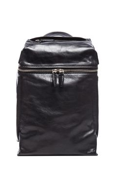 ALEXANDER WANG | Inside out Smooth Leather Backpack in Black