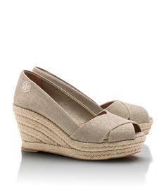 Oooh, AND these too!!!!!!  Metallic Filipa Wedge Espadrille | Womens Wedges | ToryBurch.com