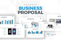 Business Proposal Keynote Template by Rocketo Graphics on @creativemarket