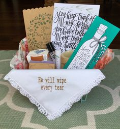 Sympathy Basket; Grief gift; In Memory of Gift; Bereavment Gift; Condolence Gift Basket; Psalm 56:8; Loss Gift; personalized sympathy gift by BurdenBearingBaskets on Etsy