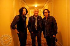 MAGE MUSIC: 2009 19 June Jack White, Jimmy Page and film director Davis Guggenheim (Photo: Ross Halfin)