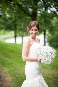 Simple Flowers - Rustic Illinois Farm Wedding from Jasmine Nicole Photography   Style Me Pretty