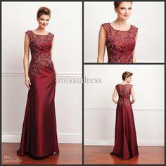 fashion-burgundy-scoop-lace-applique-taffeta