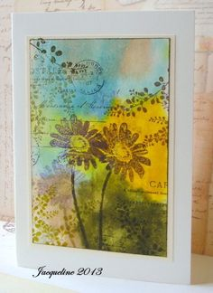 Jacqueline's Craft Nest: The Wonder of Watercolor challenge