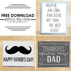 Free Download: Father's Day Cards | allonsykimberly.com
