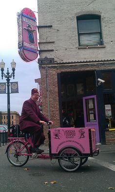Voodoo Doughnut Advertising & Vending Bike