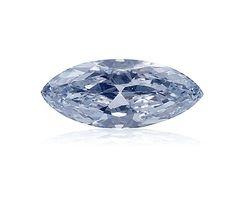 A lovely 1 carat baby blue diamond.