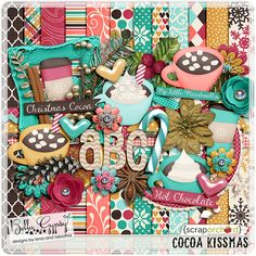 Digital Scrapbook Kit - Cocoa Kissmas | Bella Gypsy