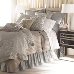 Shop luxury bedding sets and bedding collections at Horchow. Browse our incredible selection of full, queen, and king size luxury bedding sets. Bedroom Bed, Master Bedroom, Bedroom Decor, Bedroom Colors, Bed Room, Bedroom Ideas, Serene Bedroom, Bedroom Inspiration, Bed Sets