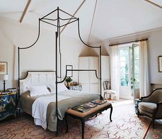Westchester County NY Interior designer Laurel Bern shares an exquisite home in Marbella Spain featuring a soothing palette and calming interiors Attic Renovation, Attic Remodel, Home Interior, Interior Design, Modern Interior, Interior Decorating, Decorating Ideas, Master Bedroom, Bedroom Decor