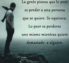 Cada vez es mas dificil regresar al lugar perdido . entre mas te pienso y anhelo mas me pierdo a mi mismo True Quotes, Motivational Quotes, Inspirational Quotes, Favorite Quotes, Best Quotes, Quotes En Espanol, Frases Humor, More Than Words, Spanish Quotes